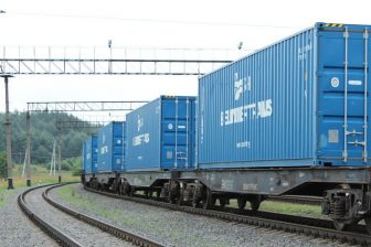 Freight train in Belarus, source: Belarusian Railway