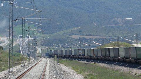 Viia train crossing tunnel of Le Perthus