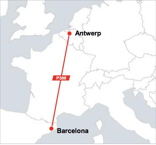 Antwerp - Barcelona Shuttle