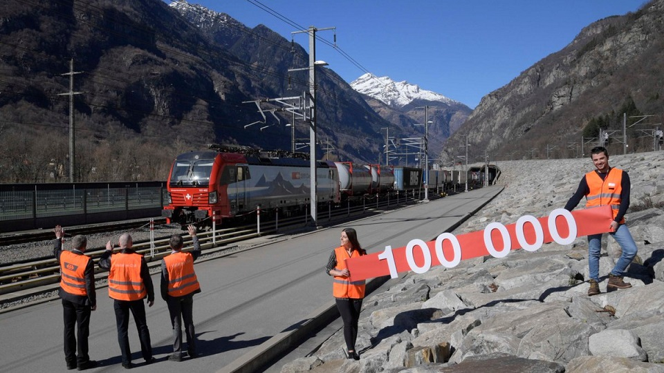 Gotthard Base Tunnel milestone, source: SBB