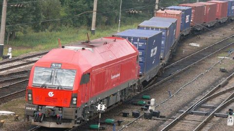 Lithuanian container train, source: Lietuvos geležinkeliai