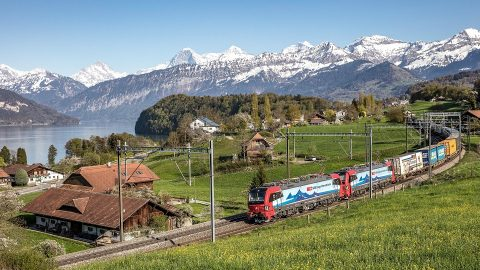 SBB freight train, source: SBB Cargo International