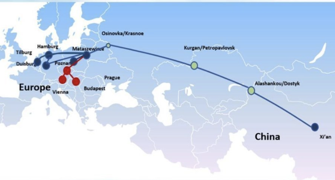 Xi'an - Prague railway service