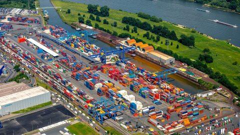 Duisburg intermodal terminal, source: Duisport