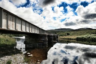 Train Scotland Bridge Scottish Highlands