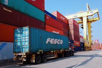 Container terminal at port of Pusan, source: RZD Logistics