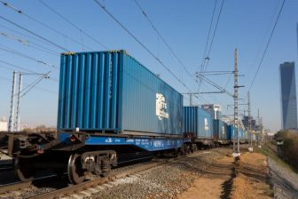 Container train in Russia, source: Russian Railways (RZD)