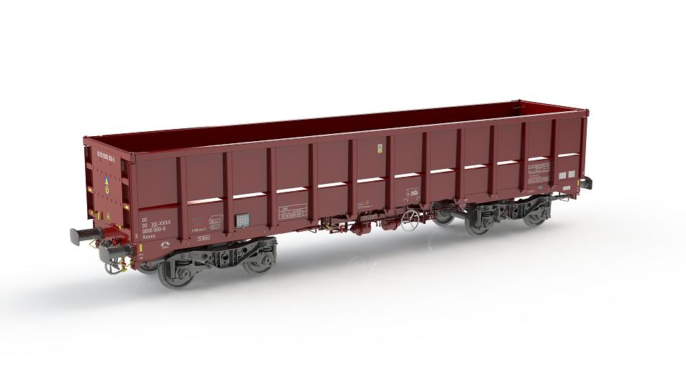 Touax open wagon for Mendip Rail, source: Touax
