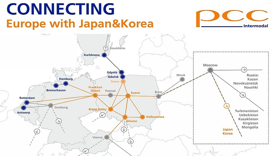 PCC Intermodal connections in Europe, source: PCC Intermodal