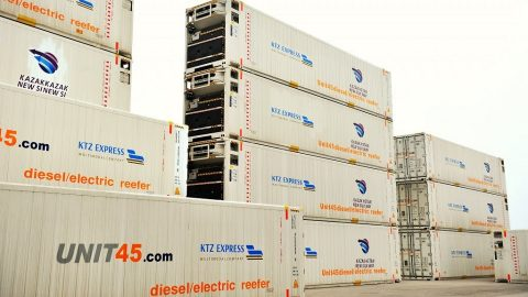Reefer containers of KTZ Express, source: KTZ Express