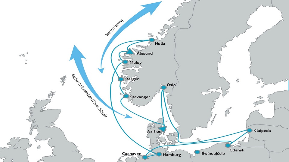 Samskip line between Norway and Baltic countries, source: Samskip
