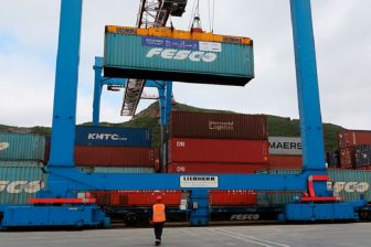 Containers at Vladivostok seaport, source: Russian Railways