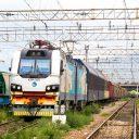 Freight train in Kazakhstan, source: Kazakhstan Railways