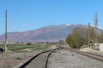 Railway track in Balykchy, Kyrgyzstan, source: Mykola Zasiadko