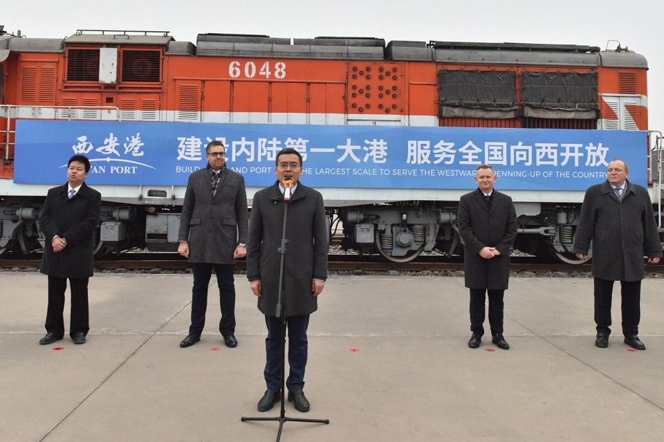 Opening ceremony for Xi'an - Sławków train, source: Mateusz Dawidowski