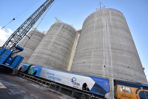 Biomass train at Peel Ports Liverpool