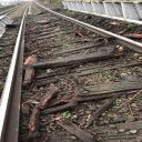 Rail Bridge and sleeper damage near Barking in London