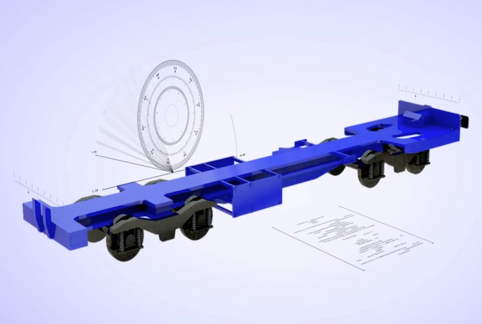 Technical interpretative drawing of Ecofret2 wagon