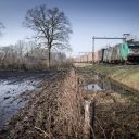 A freight train on the corridor Hengelo-Oldenzaal. Source: Hollandse Hoogte