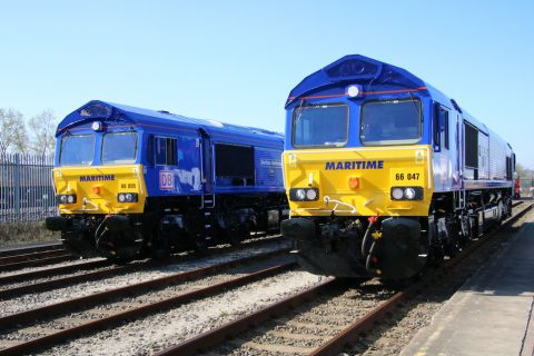 Class 66 locomotives named Maritime Intermodal One and Two