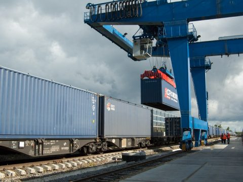 Intermodal terminal in Kaliningrad Region, source: Russian Railways (RZD)