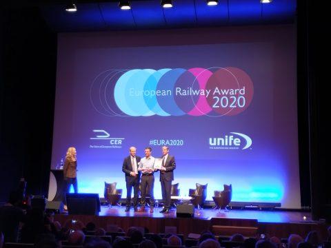 Geert Pauwels wins the European Railway Award 2020
