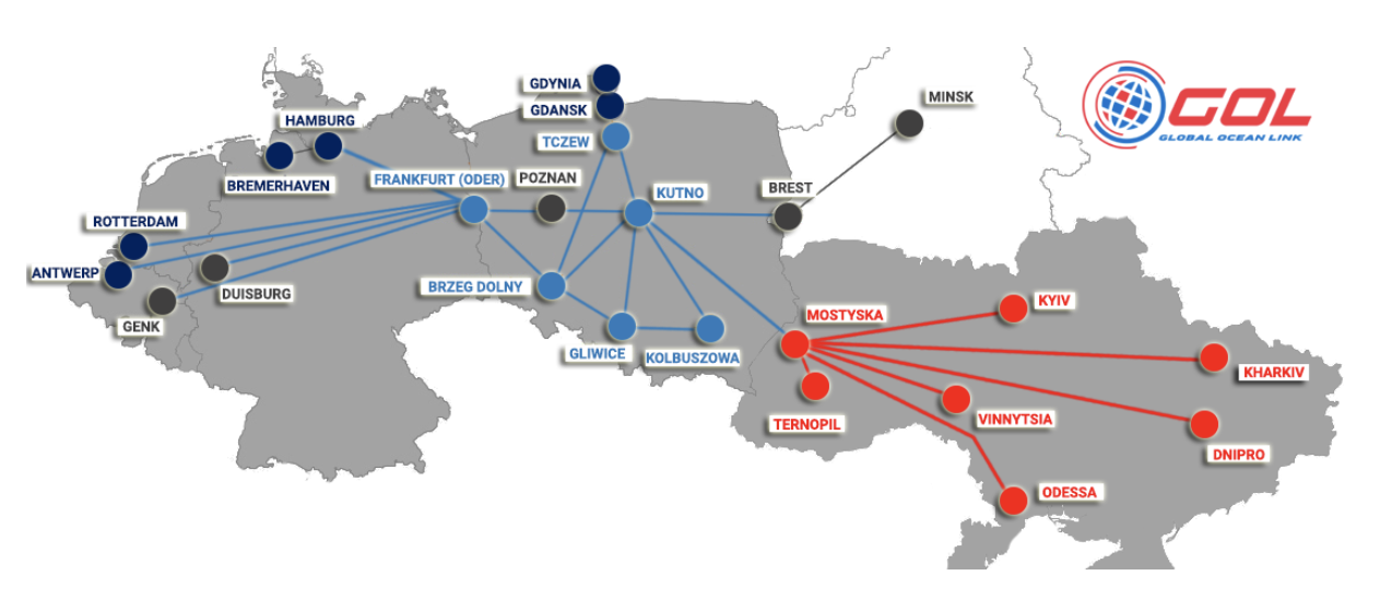 The current destinations from Mostyska. In the near future, GOL plans to expand new routes to Central Europe, especially towards Italy.