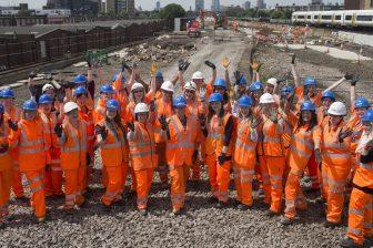 Female rail workers. Source: Women in Rail